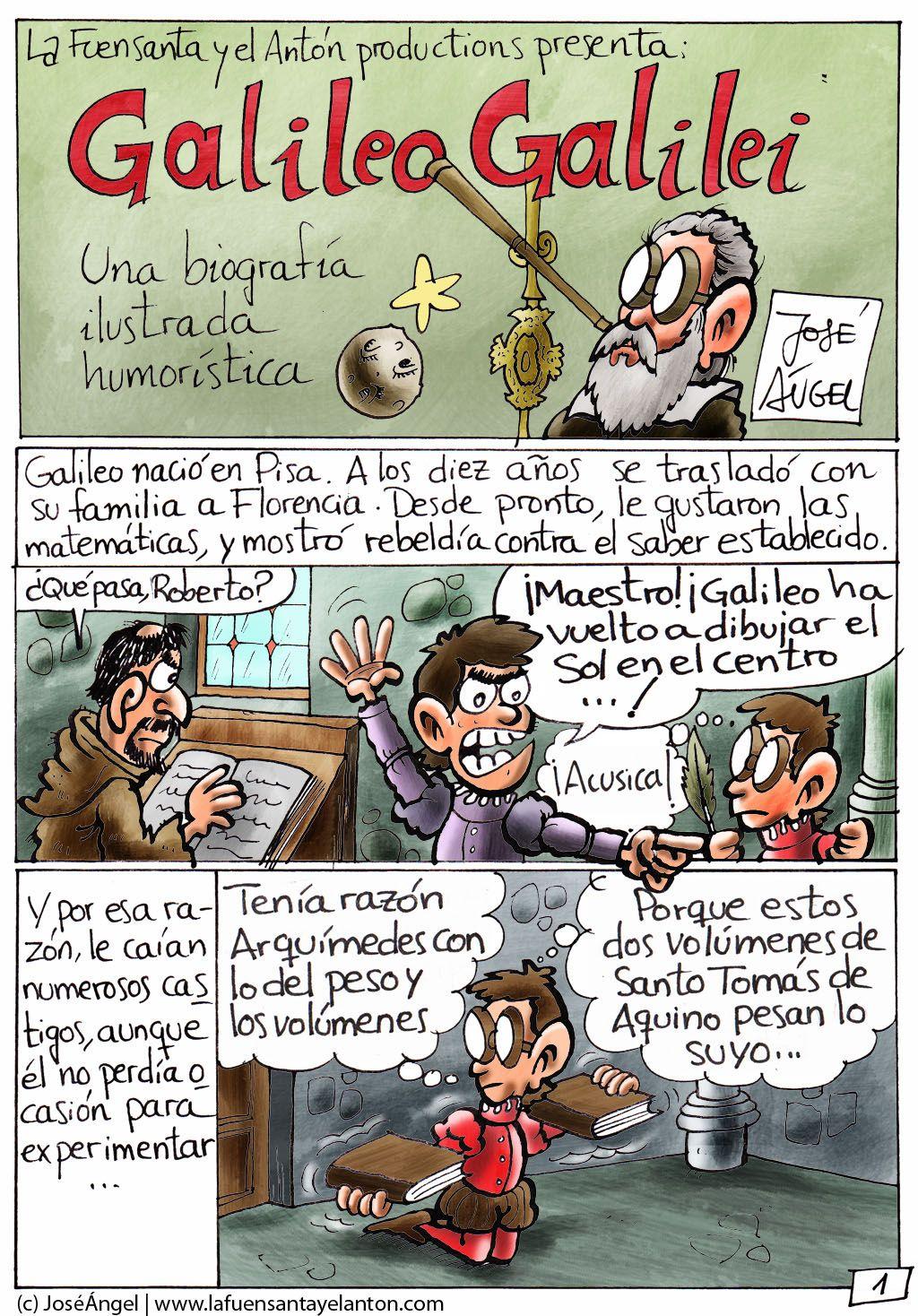 biografa ilustradacon humor de galileo galilei - Tabla Periodica De Los Elementos Quimicos Galilei