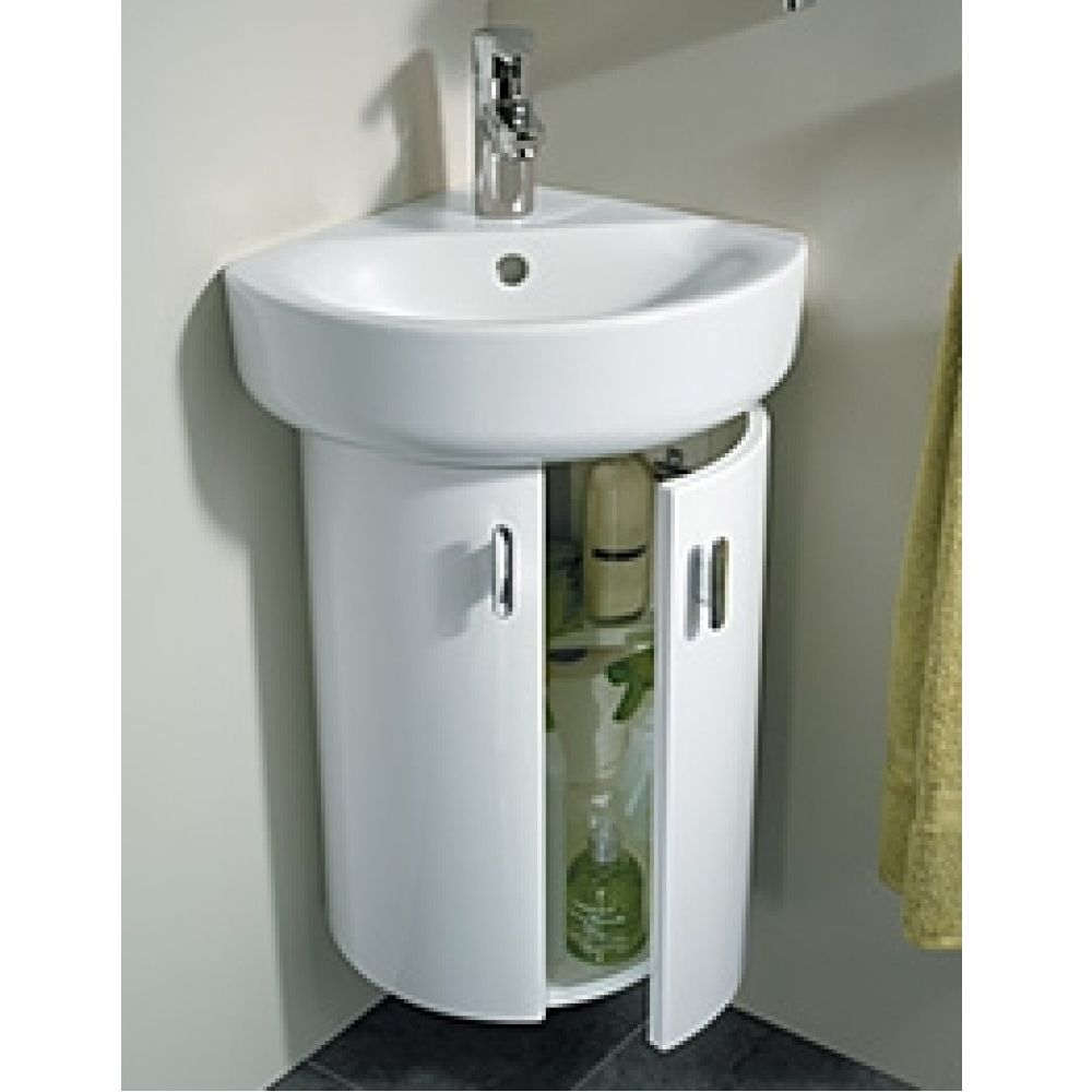 Ideal Standard Concept 370 X 385mm Gloss White Wall Hung Corner Vanity Unit