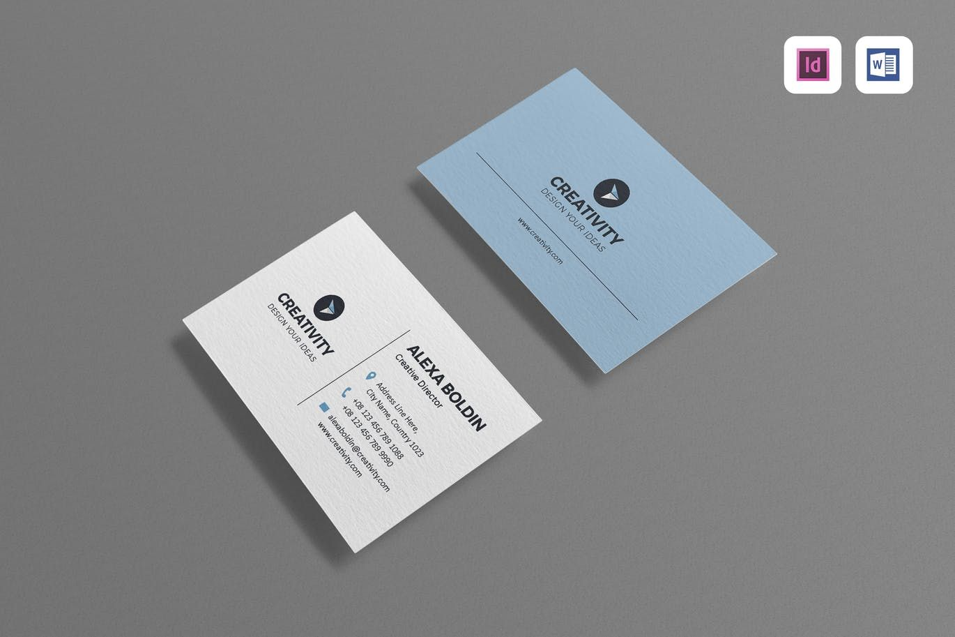 business card template indesign indd ms word business card