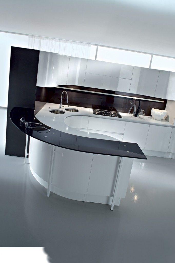 Artika Curved Kitchen Curved Kitchen Island Modern Kitchen Design