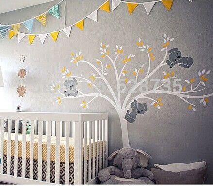 Wall stickers koala tree google search babykamer pinterest wall sticker and nursery - Stickers koala chambre bebe ...