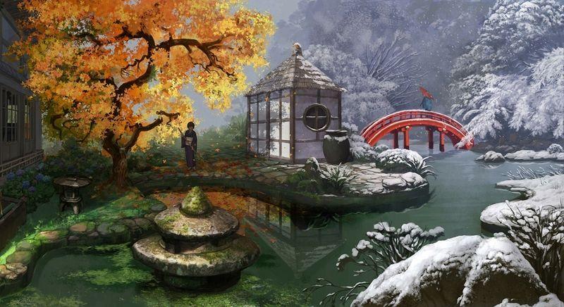 Hd Wallpapers 1980x1080 Wallpapersafari Japanese Garden Landscape Japanese Landscape Japanese Garden