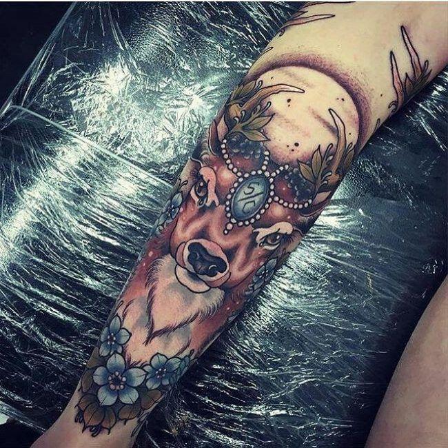 Deer Women Tattoo Ideas And Deer Women Tattoo Designs: Awesome Ink!!! 3