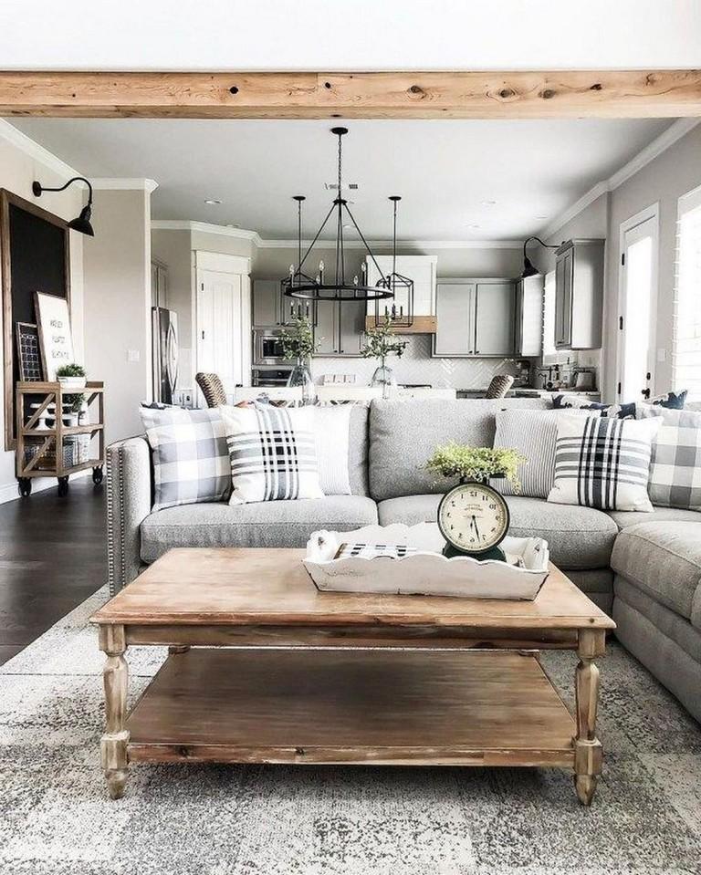 35+ Classy Modern Farmhouse Living Room Design Ideas
