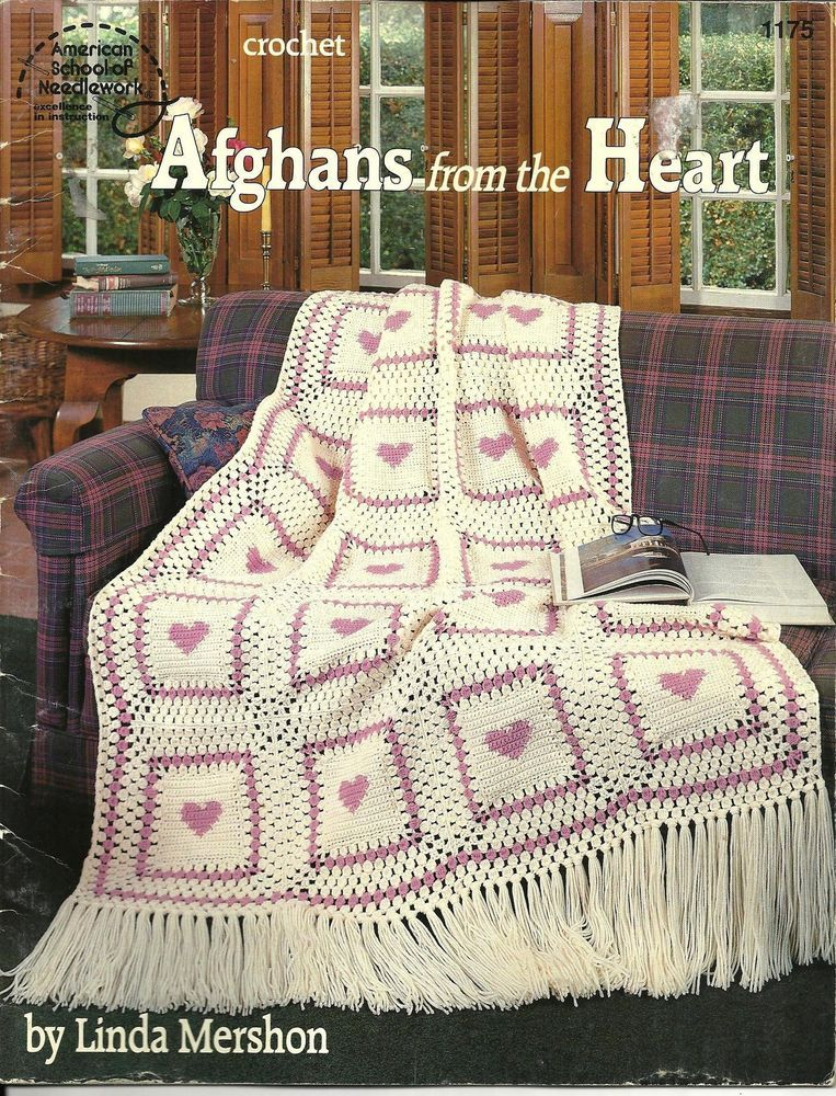 AFGHANS FROM THE HEART Crochet PATTERN Book - Five Afghan Designs ...
