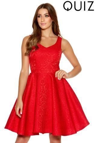 Buy Quiz Short Skater Dress From The Next Uk Online Shop Pretty Dresses Evening Dresses Dresses
