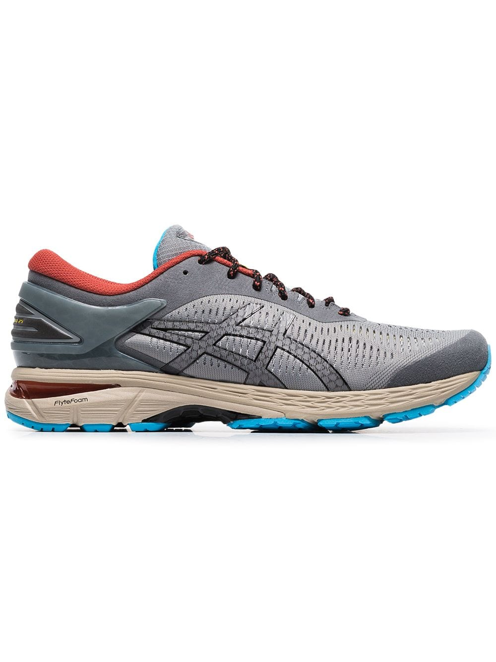 Grey Asics Gel Kayano 25 Trail Running Shoe Brands Asics Asics Men