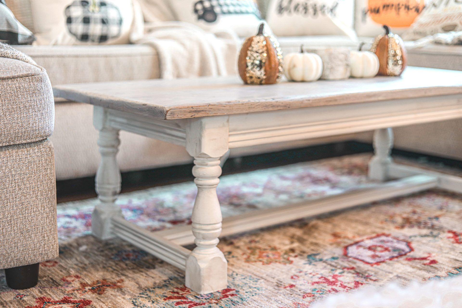 How To Whitewash Distress Furniture Diy Farmhouse Coffee Table