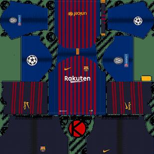 Barcelona Kit 2019 Dream League Soccer Soccer Kits Barcelona Football Kit Barcelona Champions League