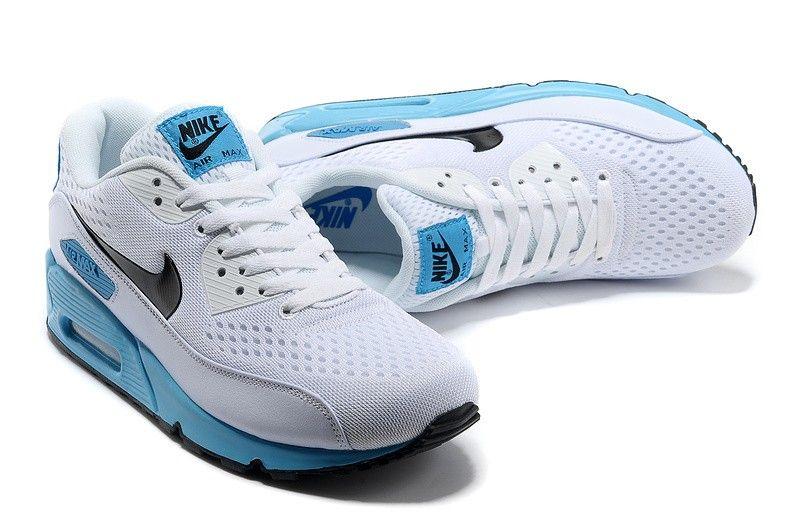 Hot Sale Air Max 90 Premium Men Shoes (White / Black Blue), New Air Max for  Mens for Sale Online