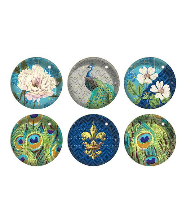 Arcadia Peacock Six-Piece Magnet Set by Fringe Studio #zulily #zulilyfinds