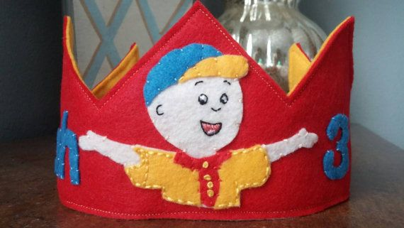 Caillou Personalized Birthday Crown by HedsThreads on Etsy