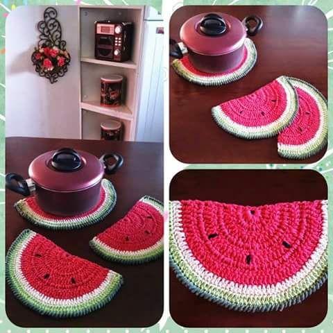 Closet For Crocheted Napkin مفارش كروشية للمطبخ Crochet For Kitchen Crochet Dishcloths Crochet Kids Rugs