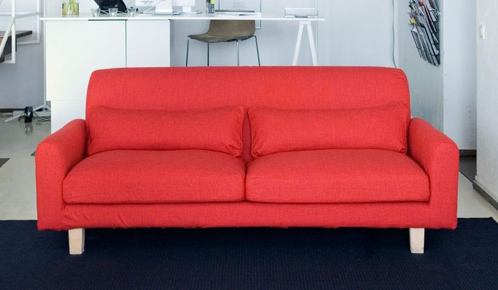 Nikkala Sofa From Ikea With A Real Red Cover Bemz Www