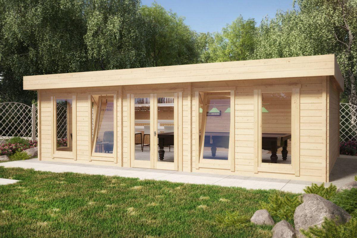 gartenhaus hansa b 38m2 70mm 8x5m garten pinterest. Black Bedroom Furniture Sets. Home Design Ideas