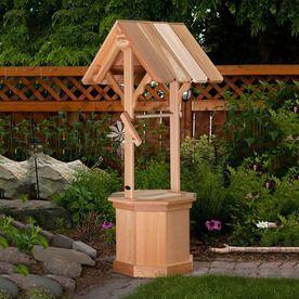 All Things Cedar 60-In Cedar Cedar Wishing Well Planter Ww60 ...