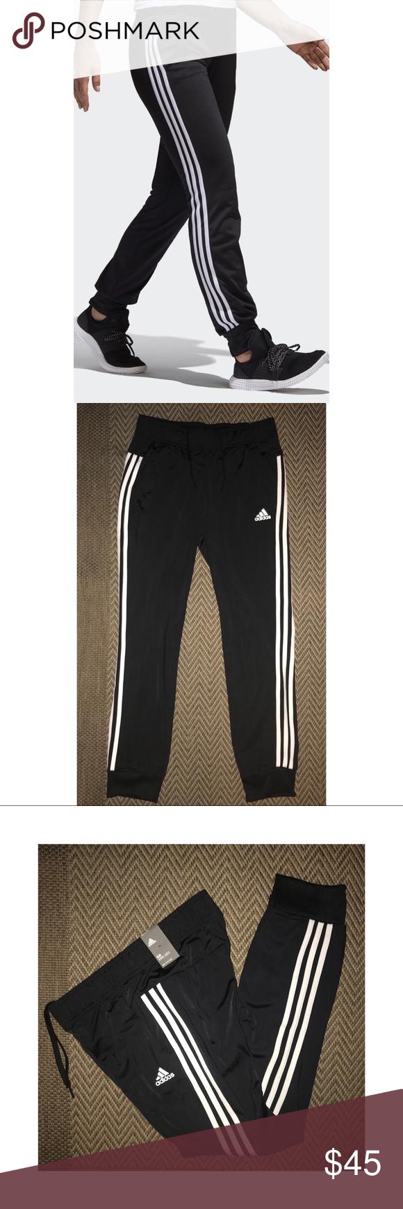 707e0a53c5244 Adidas Women Designed-2-Move Cuff Pant Blk Wht Gym DESIGNED 2 MOVE ...