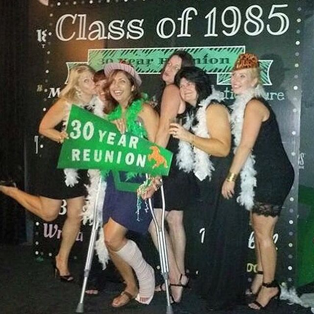 30 Year High School Reunion Photo Booth Backdrop Shindigz