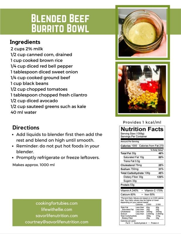 how to blend foods for blended diet