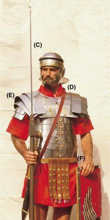 This is what a roman solider would have worn during the early times of the Roman empire. The Romans army was a well oiled machine.