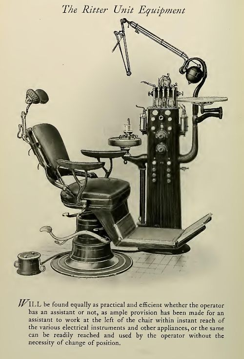 Vintage Photo Of An Old Dental Chair