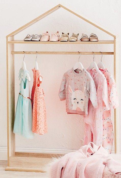 kids garment rack baby room decor