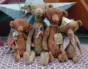 Heirloom Bears Primitive Dolls Patterns By Sweet by RoosterCreek, $11.00