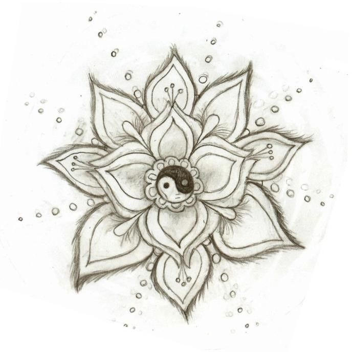 Simple Pencil Design Drawings Flower Valoblogicom