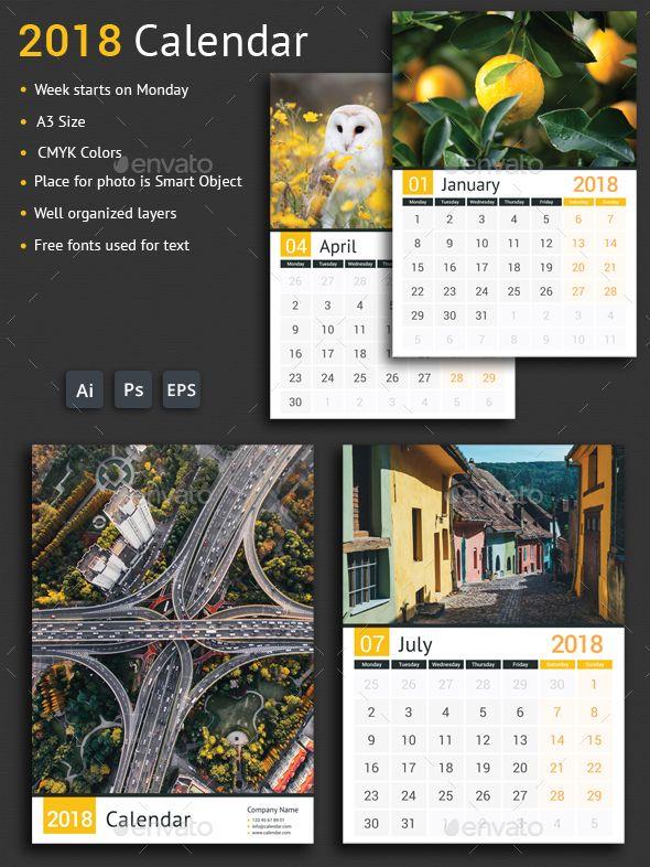 2018 Calendar Business Calendar Printed Ribbon And Illustrators