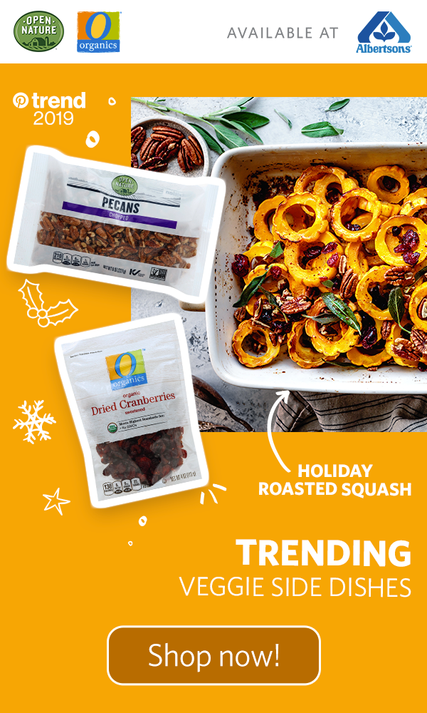 Mix up the holiday menu with this festive roasted squash