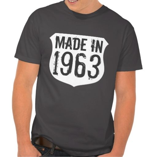 50th Birthday shirt for men | Made in 1963 - 2013