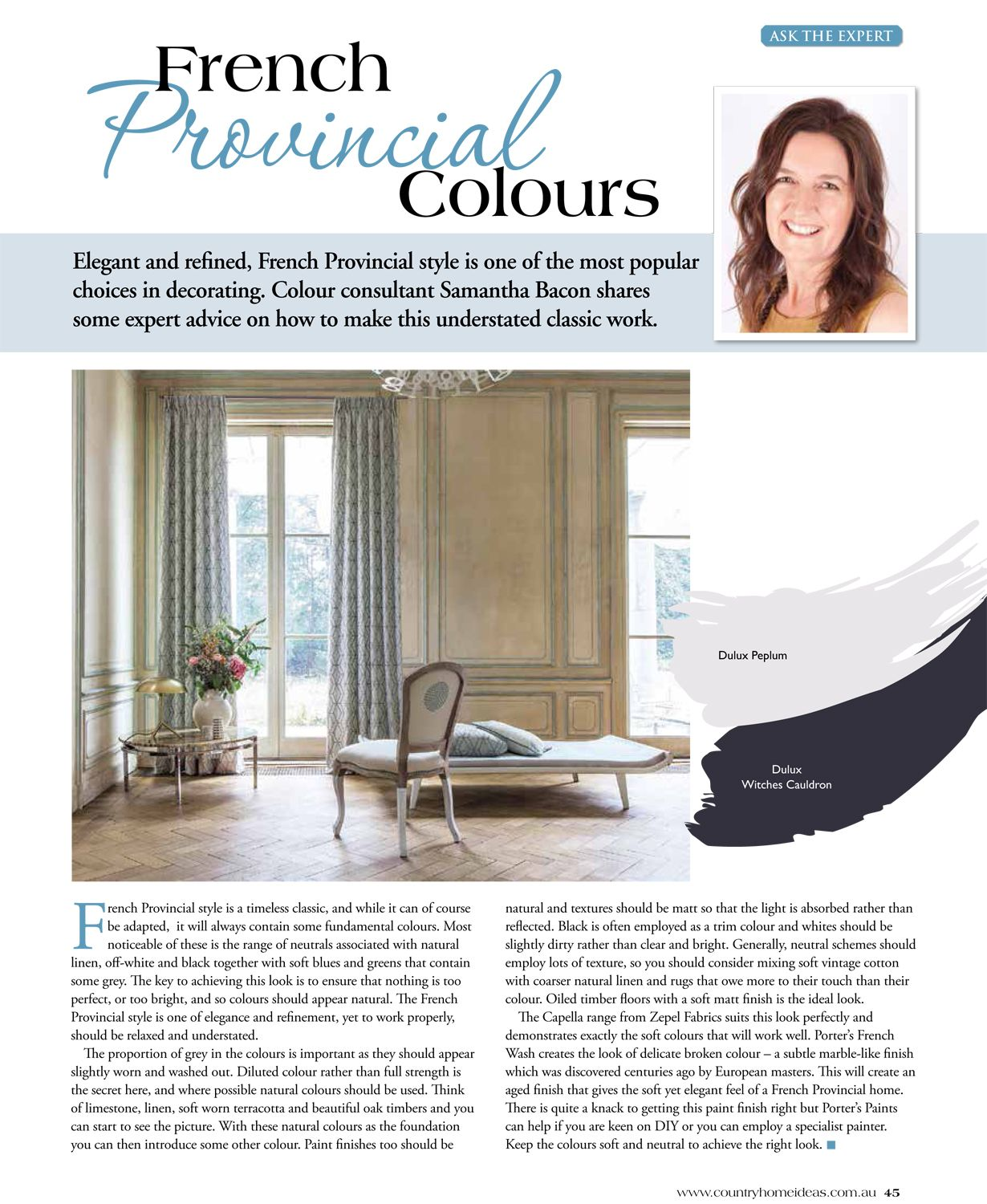 Country Home Ideas - French Provincial Colours | French provincial ...