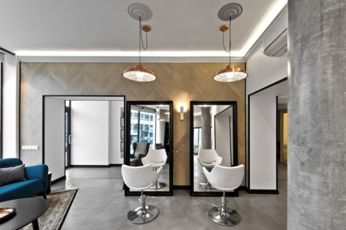 Modern beauty salon interior with classical touch in lithuania home interior design ideas