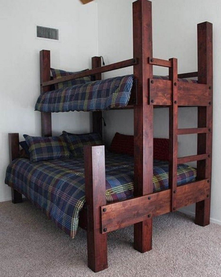 Diy Recycled Wood Pallet Ideas For Projects And Carfting Ideas Diy Bunk Bed Queen Bunk Beds Bunk Bed Designs
