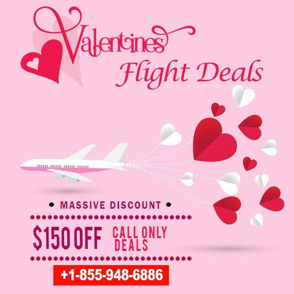 Valentine's Day Massive Flight Discount Save upto $150 ✈️ ☎️ Call Now +1-855-948-6886  Start your travel planning here: Fareskart.us #FlightDeals #NewYear #2019 #CheapFlights #UnpublishedFlights #valentineFlights #AmericanAirlines #Holidays #Trip #Vacation #CheapFlightDeals #CheapAirlineTickets #FlightDeals #LowCost #Airfare #FlightTickets #PlaneTickets #WeekendFlight #DomesticFlight