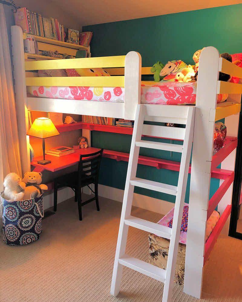 Pin On Girls Loft Beds