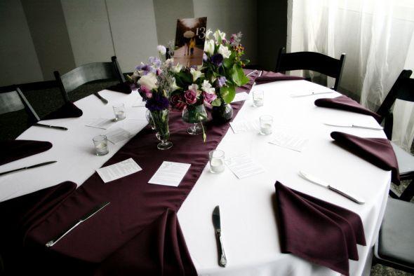 Parasols Eggplant Table Runners Xyron Etc Wedding Favors