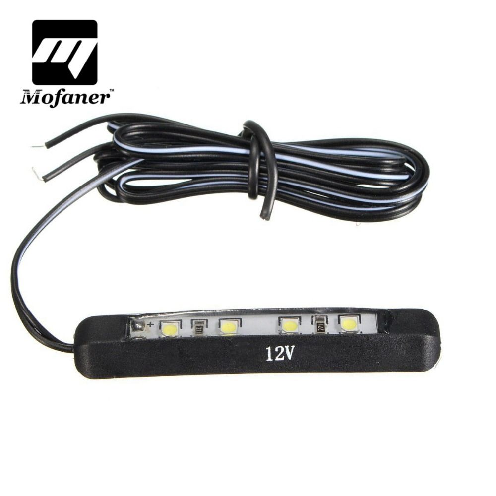 Voiture Moto Micro Led Minuscule Arriere Plaque D Immatriculation Lumiere Lampe 12 V 4led Number Plate Motorcycle Car