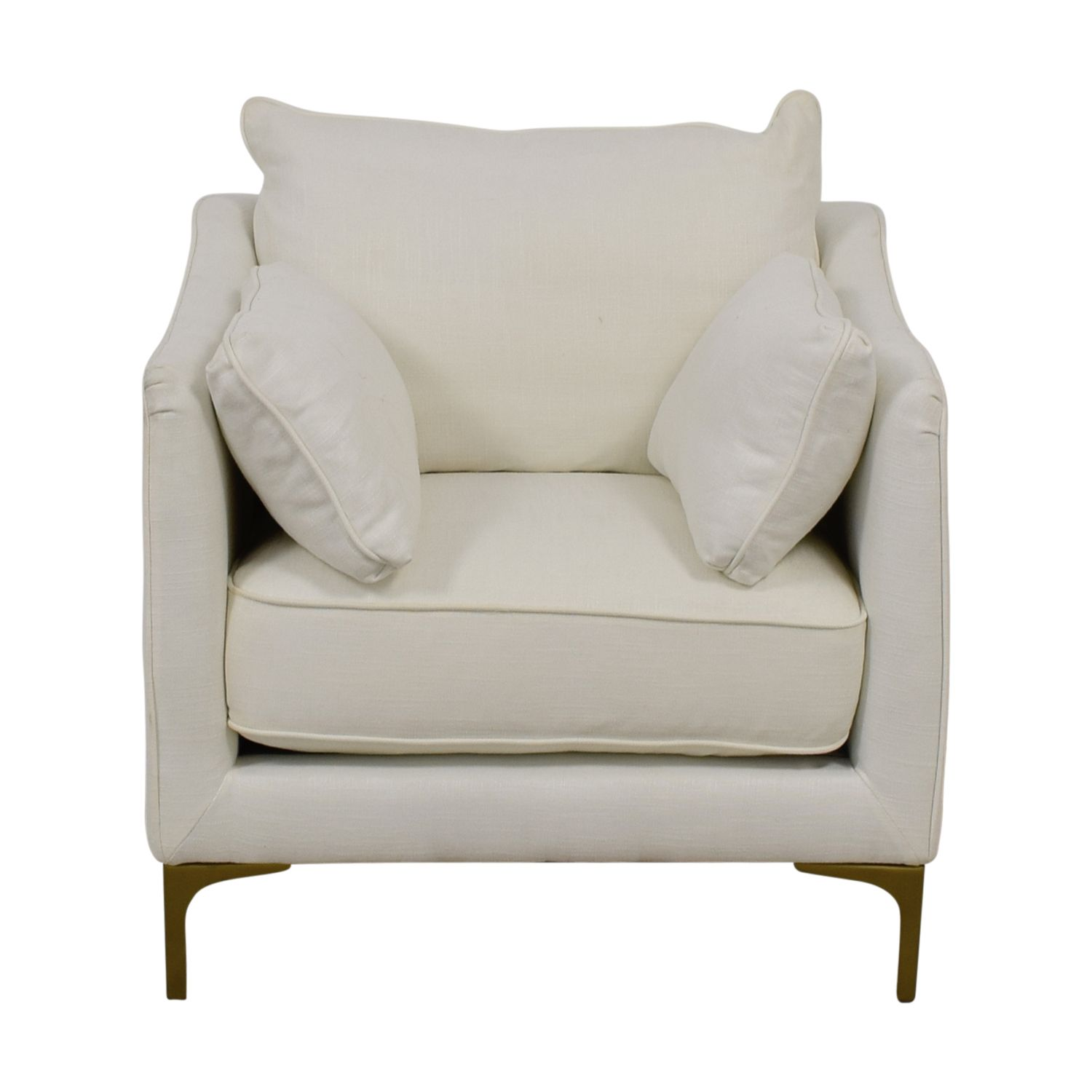 Caitlin Pee White Accent Chair