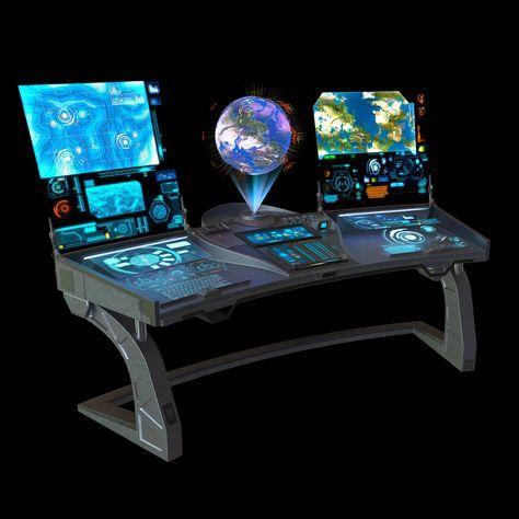 sci fi command panel 3d max
