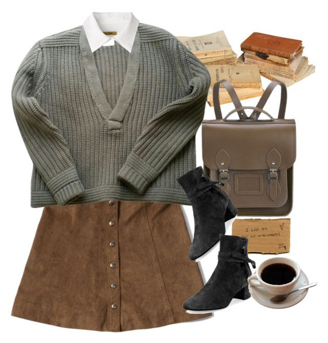 """""""Untitled #9505"""" by nikka-phillips ❤ liked on Polyvore featuring Abercrombie & Fitch, The Cambridge Satchel Company, H&M, Gianvito Rossi and Peter Jensen"""