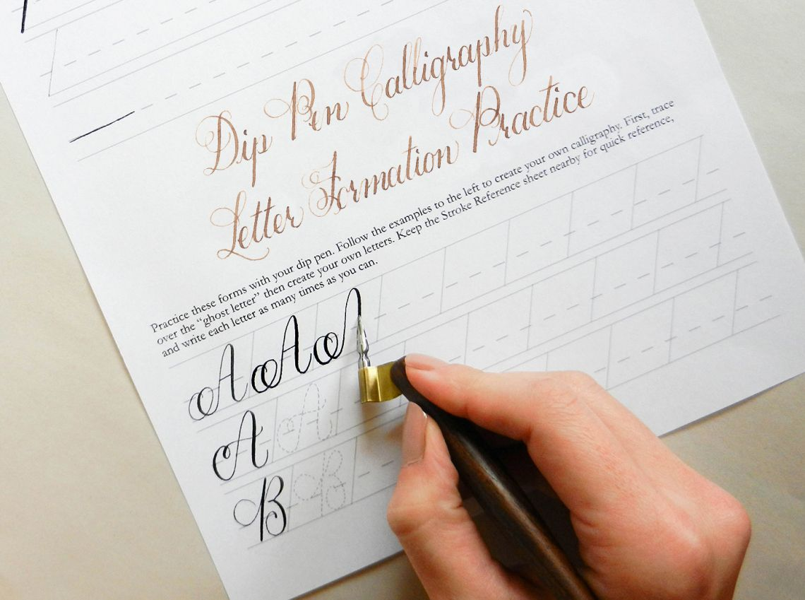 Learn Calligraphy For A Latte The Janet Style Worksheet Has Arrived