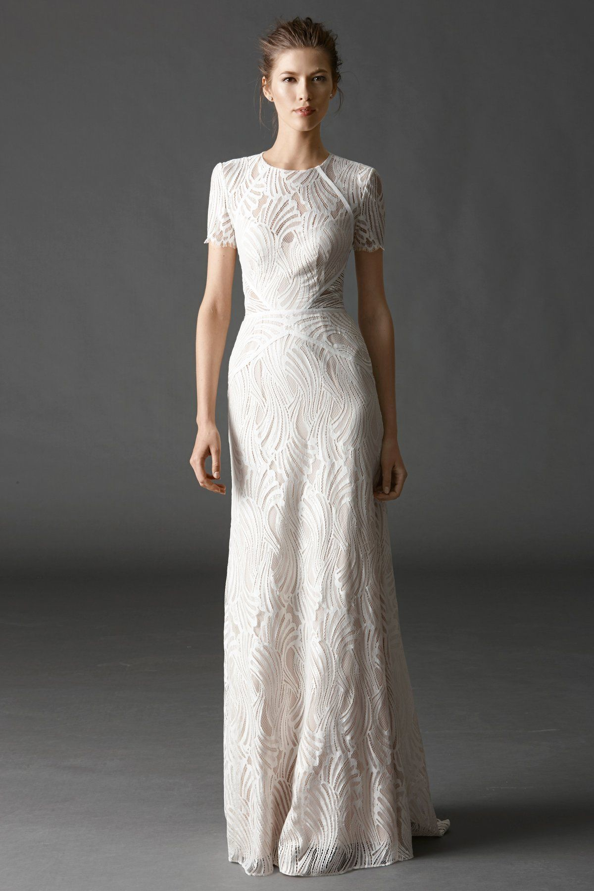 Sheath Wedding Dress on Kleinfeld Bridal This short