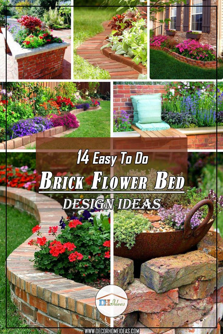 14 Brick Flower Bed Designs Easy Flowerbed Brick Garden Gardenideas Landscaping Gardening Deco Brick Flower Bed Flower Bed Designs Backyard Flowers Beds