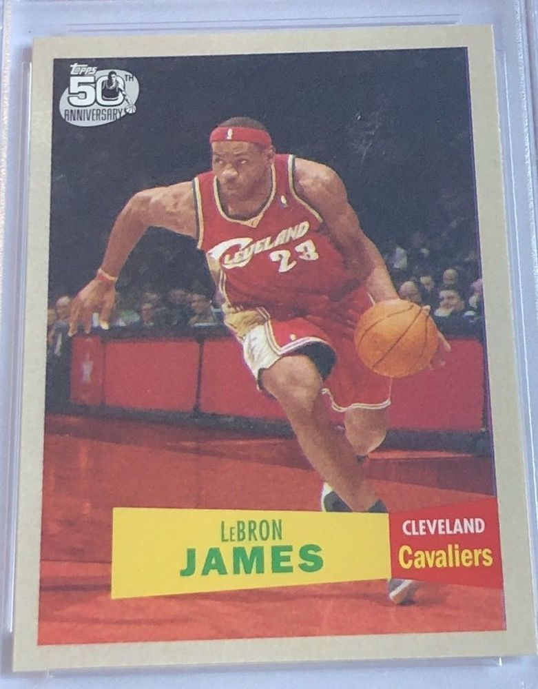2007 topps lebron james 195758 variation 23 mint from