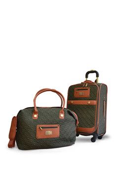 Adrienne Vittadini Olive Deluxe Quilted Nylon 2-Piece Luggage Set - very reasonably priced, time to fly!!!