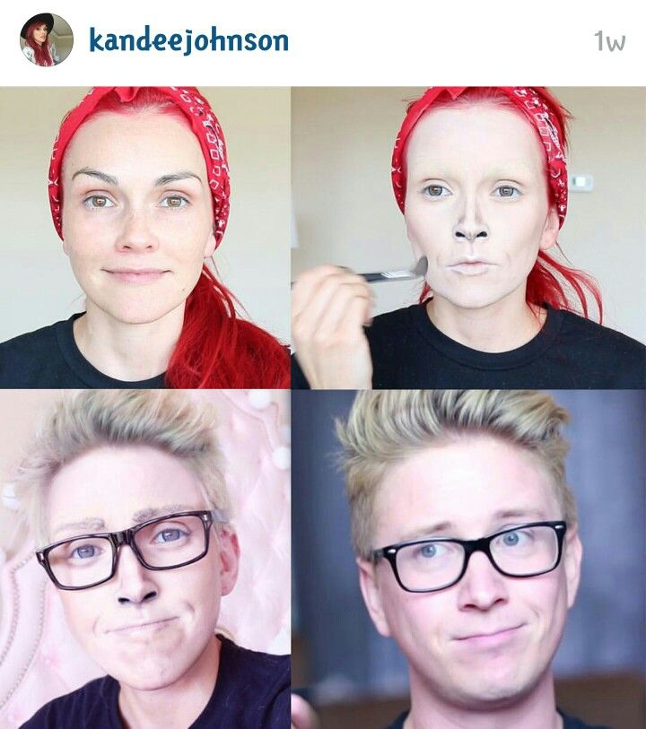Amazing Makeup Transformation By Kandee Johnson On Youtube From Female To Male Makeup Transformation Amazing Makeup Transformation Male Makeup