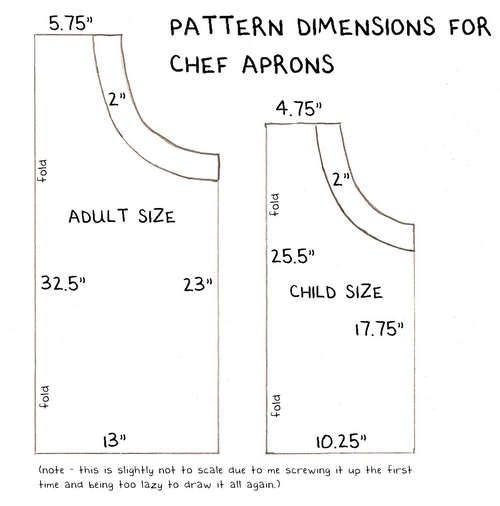 How To Sew An Adjustable Chef's Apron Craft Ideas Sewing Apron Cool Mens Apron Pattern