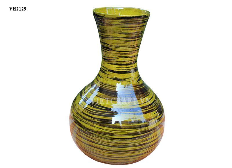 Spun bamboo vases