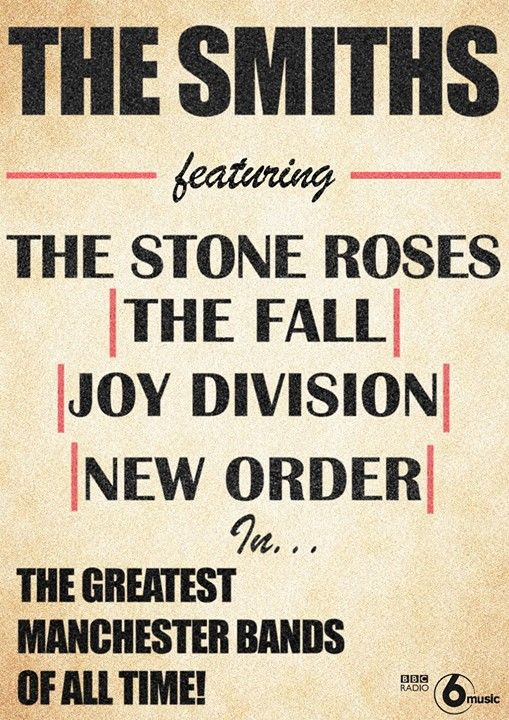 The Smiths concert poster... performing with the greatest Manchester bands of all time :)